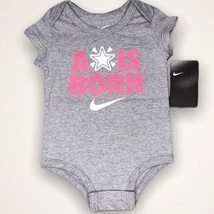 Nike One Pieces - Nike Baby Onesie Pink Girl Grey Infant Newborn NWT